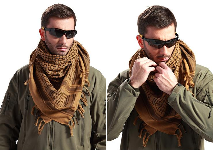 Tactical Arab scarf,outdoor square muffler, cotton kerchief
