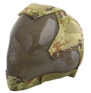 Tactical metal full head mask head protect gear 013