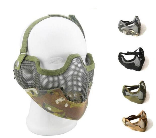 Tactical metal half face mask 014