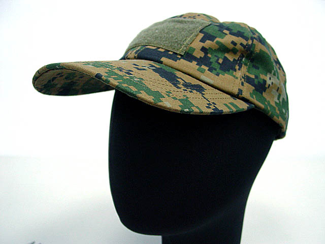 Combat camo color hats with velcro