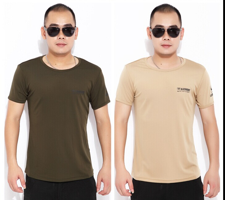 Cotton outdoor short T shirt  BLACKHAWK