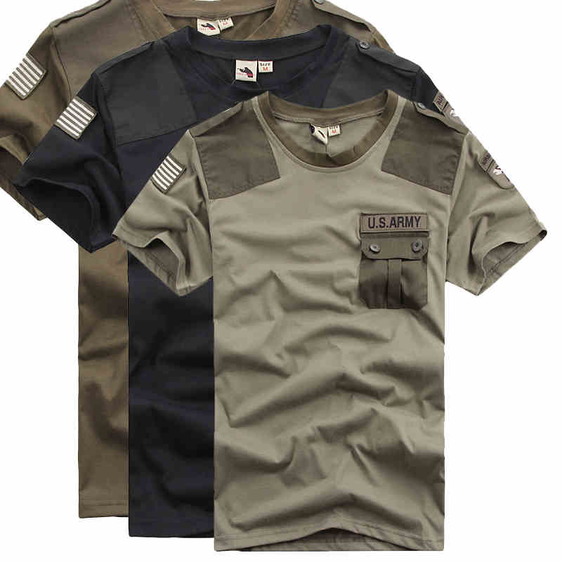 Cotton outdoor short T shirt  US Army
