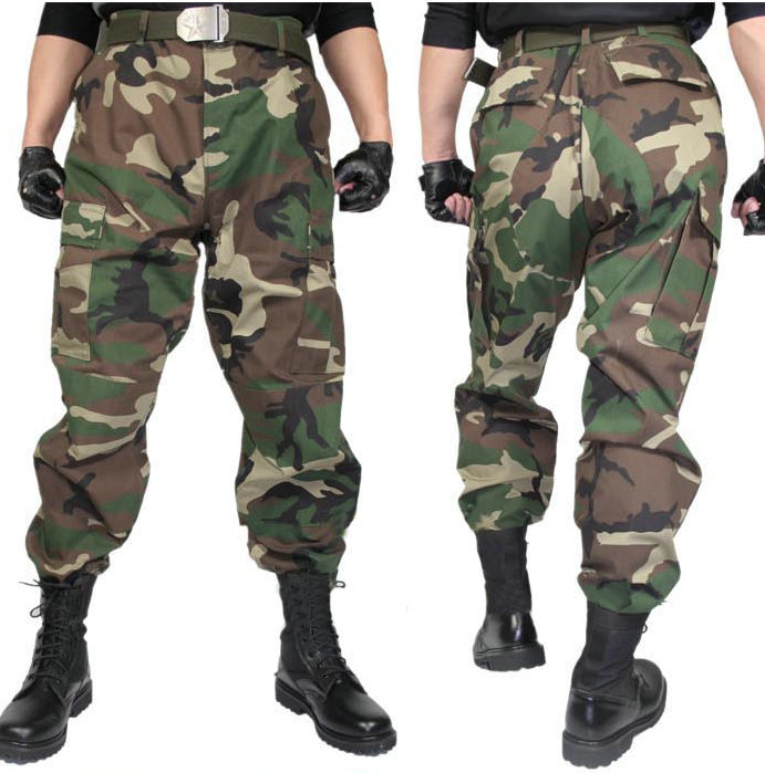 Tactical ripstop camo pants